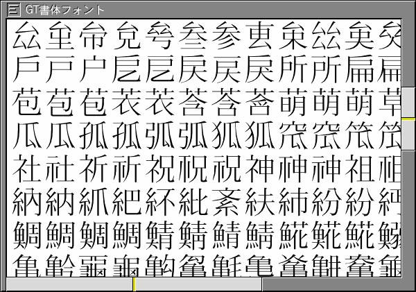 多漢字、多文字機能を実現します